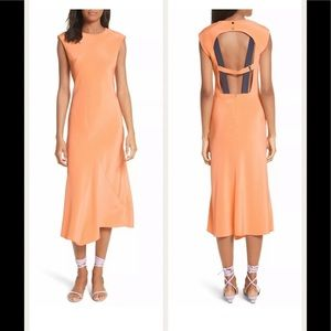 BNWT Tibi Open Back Silk Dress